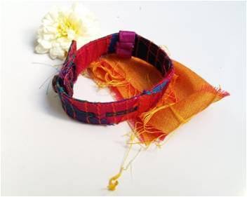 Multi color fabric design  watch belt