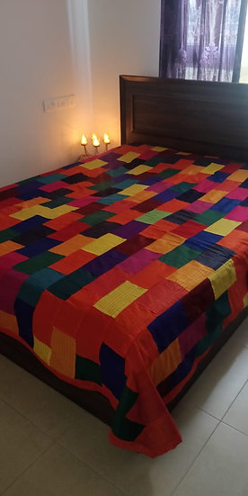 Colourfull patch work Design Bedsheets online