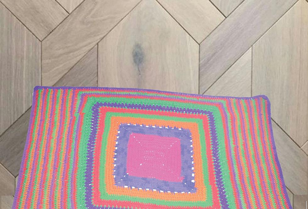 Multi color Square Fabric Designer Rugs online