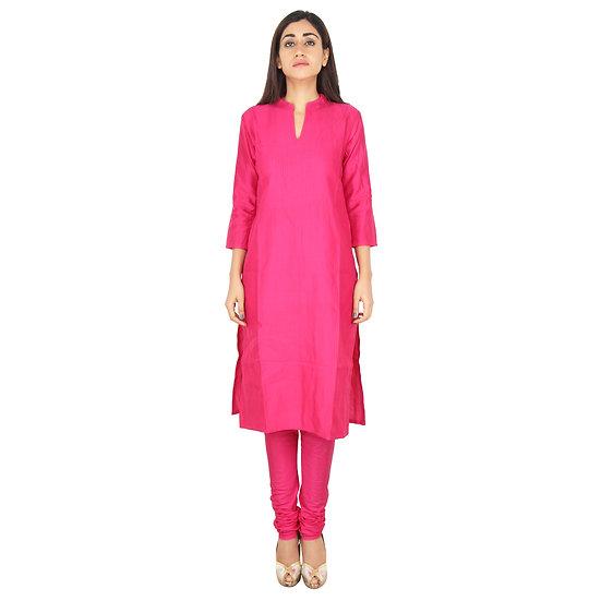 Womens Full Pink long Kurti