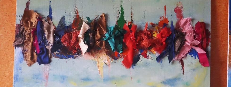 Multicolor Fabric Tassel Design wall Frame online