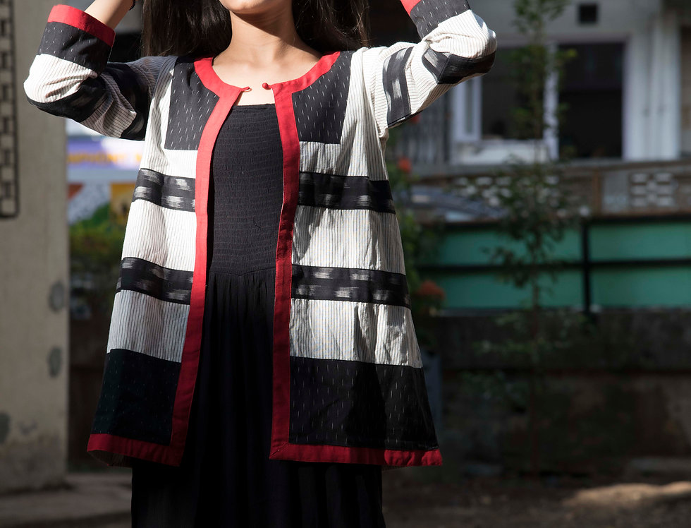 Full sleeves Ikat Designer Jacket by Bunko Junko