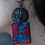 Coin Style Earring with Fabric piece