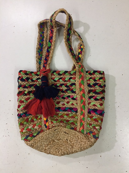 Colourful Vacay Jute Purse