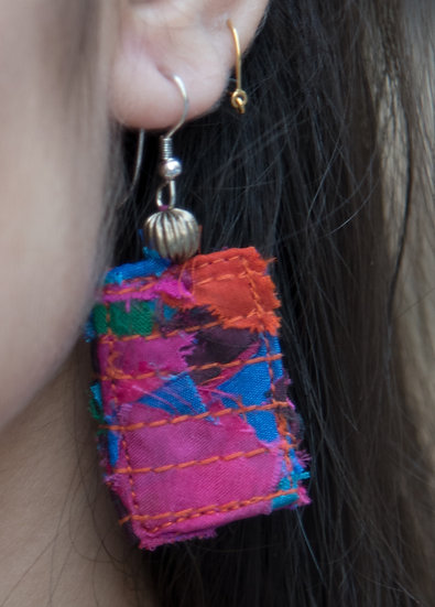 Colorful Fabric Tassel earrings for women