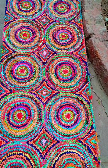 Cotton Chindi/Fabric Design Rug for Home Multicolor Ecofreindly.