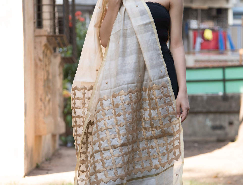 CHANDERI TISSUE WORK DUPATTA