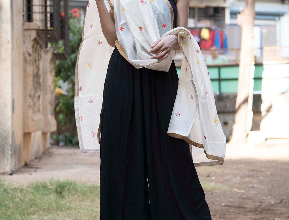 Kutchi Spot Design Chanderi Dupatta