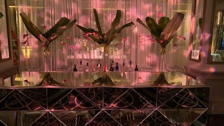 Slow rotating star breakup patterns directed onto the main bar - Rittenhouse Hotel Philadelphia, Pa