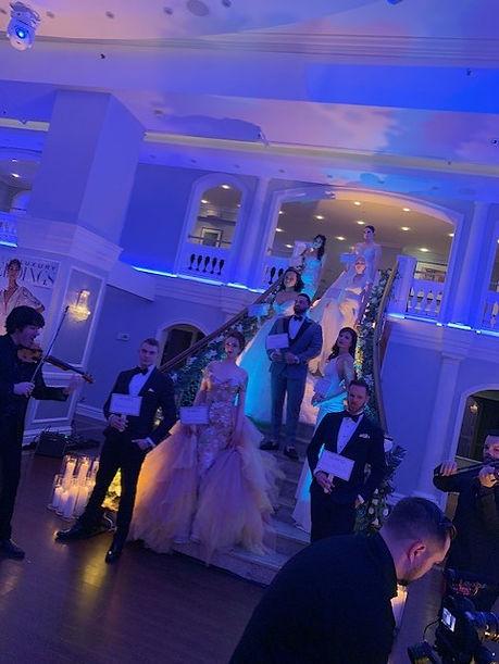 Wedding staircase philly wedding lightin