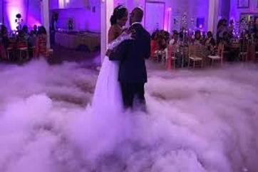 dry ice wedding philly wedding lighting