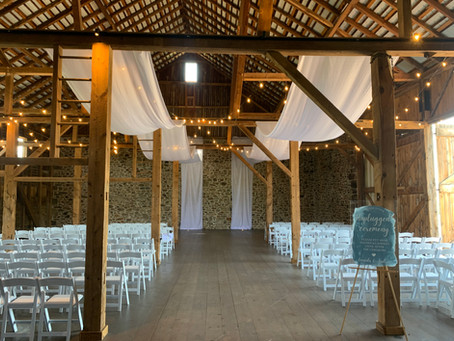 Barn Wedding Ceremony Decor