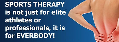 Spots Therapy is not just for elite atletes or professional, its for everybody!