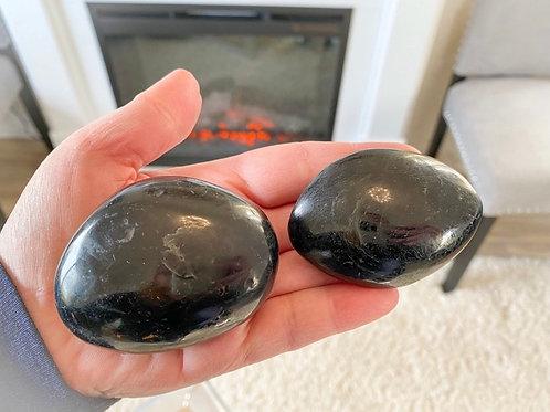 Black tourmaline Palm Stones from Madagascar