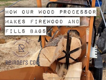 How our firewood processor makes firewood and fills bags.