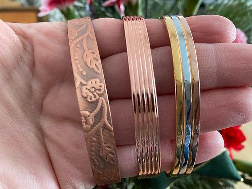 Magnetic Copper Bangle Bracelet