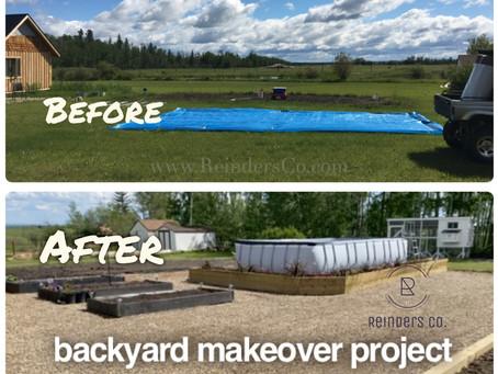 2020 backyard above ground pool and garden transformation  recap