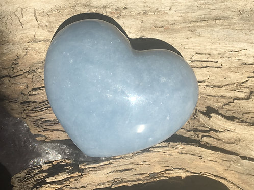 Angelite puffy heart