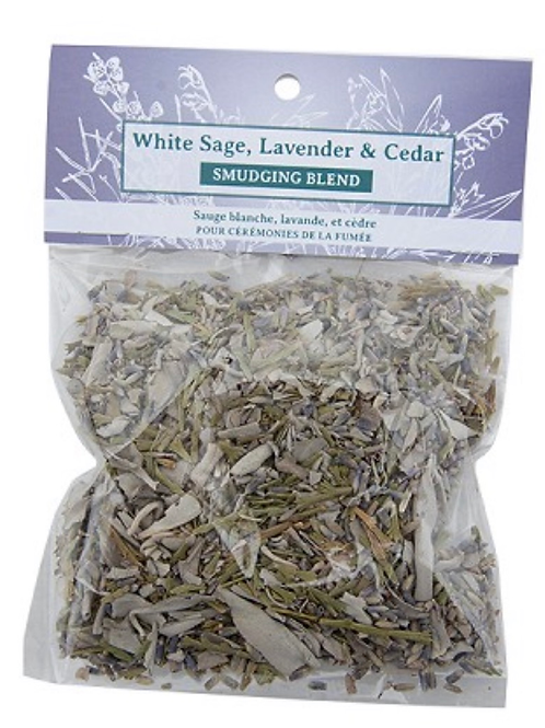 SMUDGE BLEND - WHITE SAGE, LAVENDER AND CEDAR MIX
