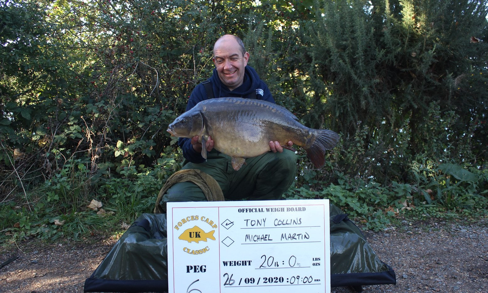 22. Peg 6. Tony with another fish.JPG