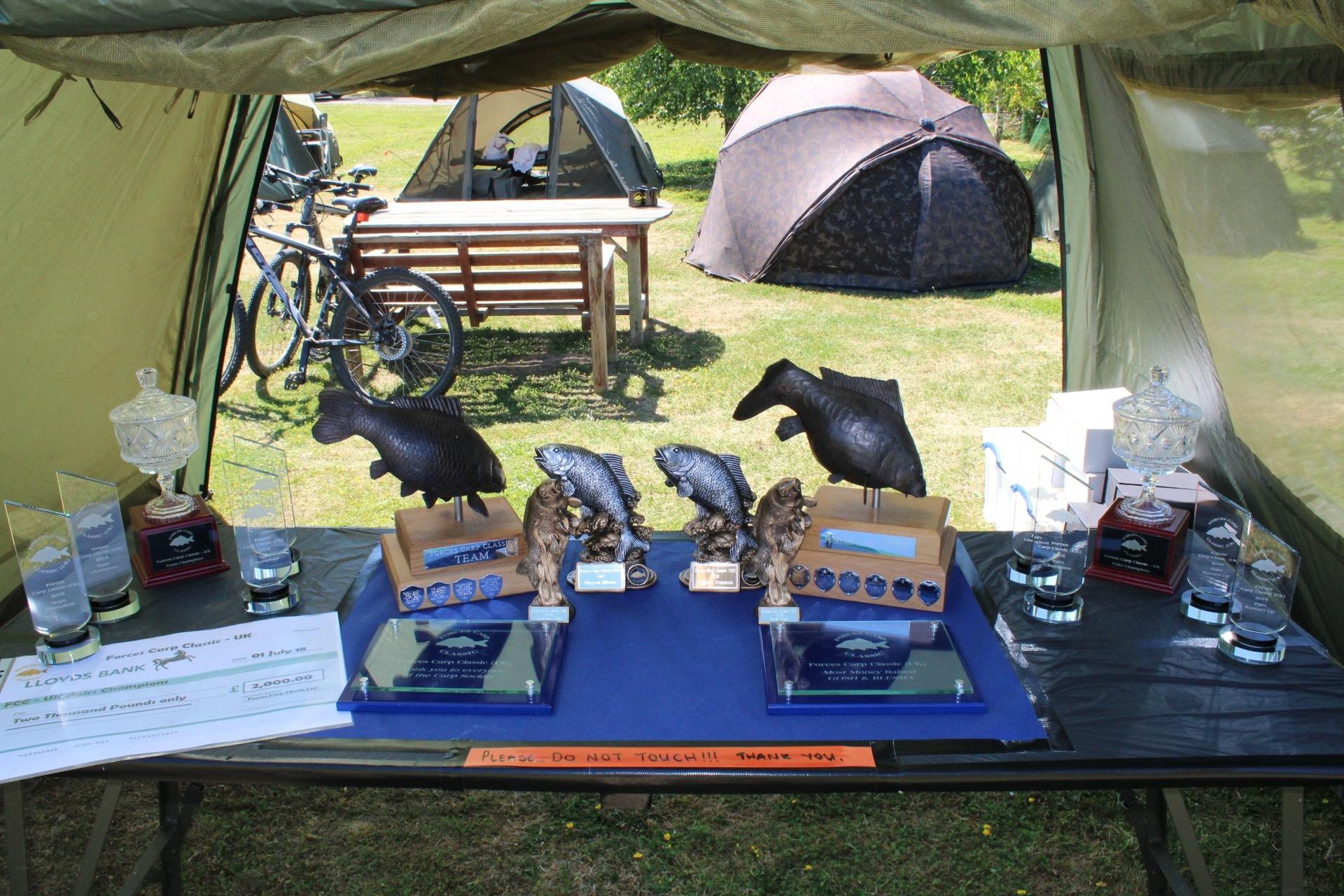 18.  Trophies on display