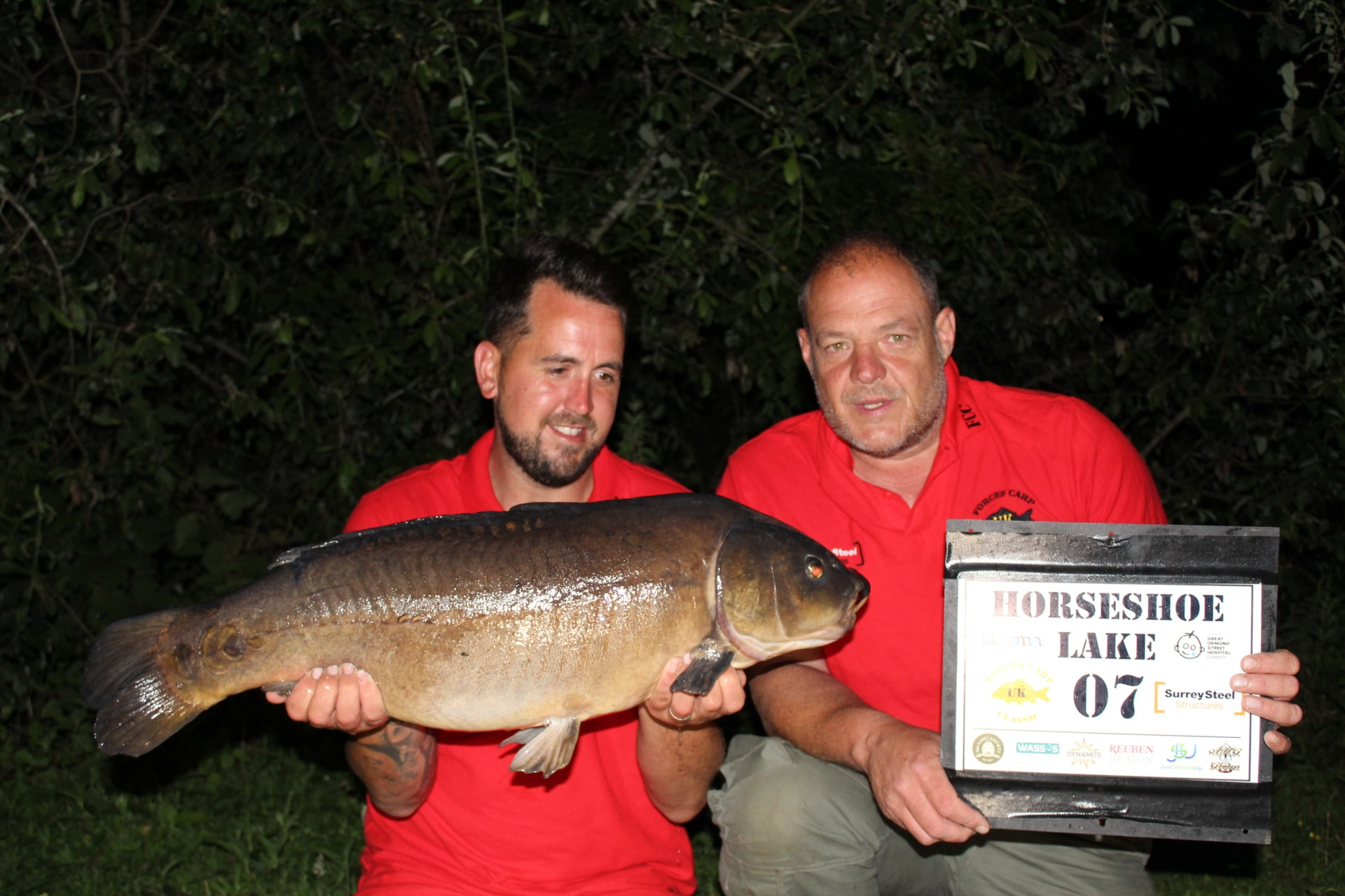 Peg 7 - Jon again with the biggest mirro