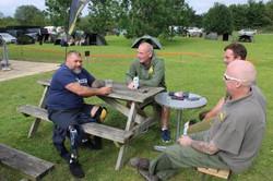 A few anglers gathering