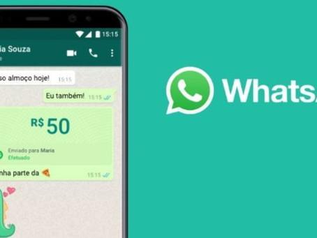 Transferências bancárias poderão ser realizadas pelo WhatsApp