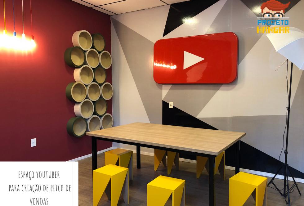 Exemplo de sala para Youtuber