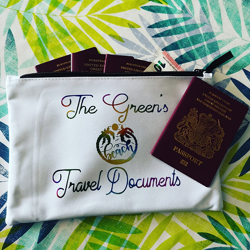Family Travel Documents bag
