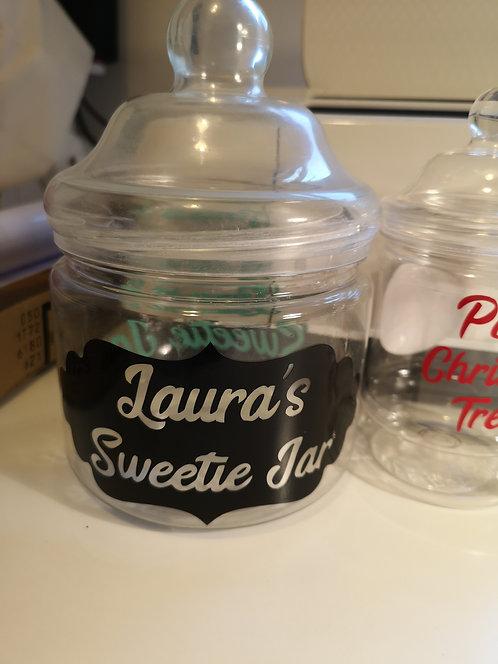 1lt Medium - Sweet Jar personalisation
