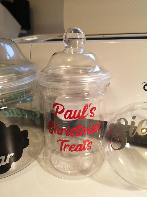 Individual Sweet Jar - Personalisation