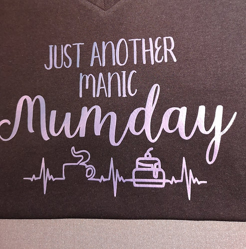 Coffee & Cake heartbeat - Manic Mumday Sweatshirt