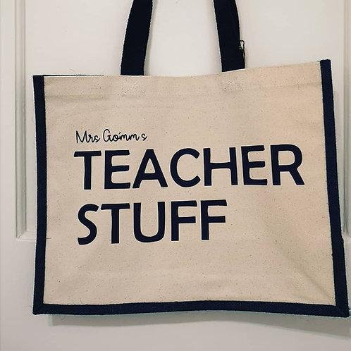 Teacher Stuff- Personalised Bag