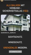 Aluminium Glas Balkon. VSG. Sichtschutz. Windschutz. Grenzenlos modern.