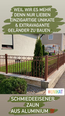 Schmiedeeisener Zaun aus Aluminium! Einzigartiges Projekt!
