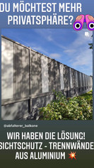 Mehr Privatsphäre gefällig ? WIR haben die Lösung! Sichtschutz Trennwände aus Aluminium.