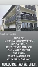 Auch bei Mietshäusern werden die Balkone irgendwann morsch. Dann wird es Zeit, für einen WARTUNGSFREIEN Aluminium Balkon ! NIE MEHR STREICHEN!
