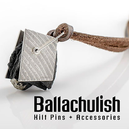 Contemporary Silver Jewellery & Kilt Pins with Scottish Ballachulish Slate. Hand-made in Edinburgh by Jenny Parker. Jewellery & Kilt Pins for men and women.