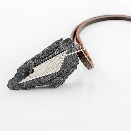 Silver & Ballachulish Slate Necklace