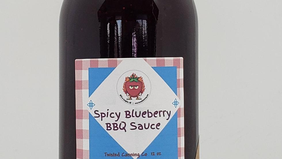 Spicy Blueberry BBQ Sauce  12oz