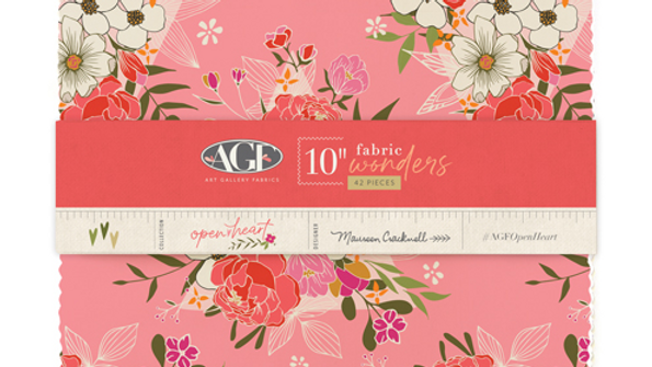 Open Heart 10 Squares MAUREN CRACKNELL Art Gallery Fabrics