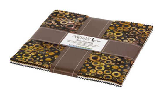 "Artisan Batiks - Rings & Dots - 10"" Layer Cake"
