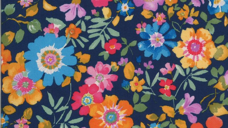 Lulu Flower Garden CHEZ MOI Moda Fabrics