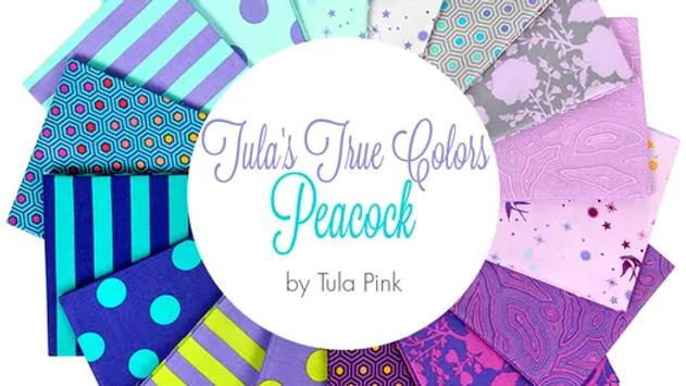 Peacock FQ Bundle TULA PINK True Colors