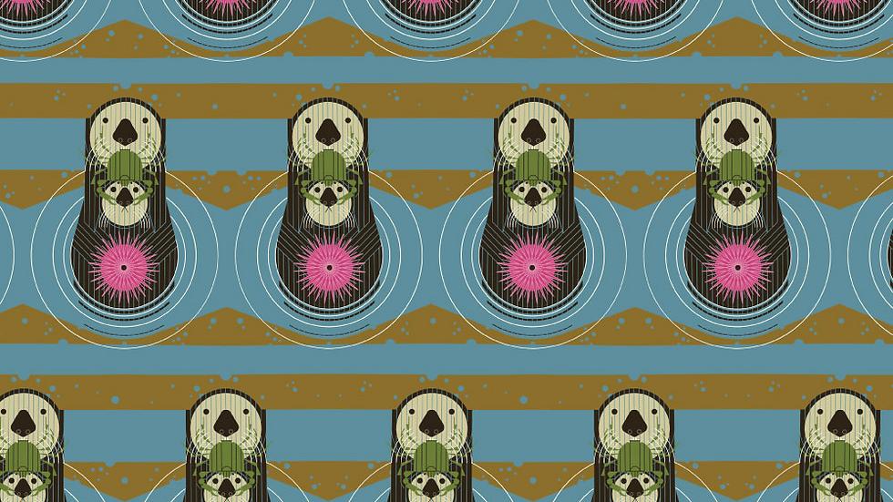 Otters CHARLEY HARPER Birch Fabrics