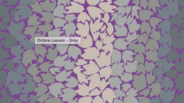 Ombre Leaves - Gray