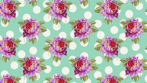 Painted Roses TULA PINK Curiouser & Curiouser
