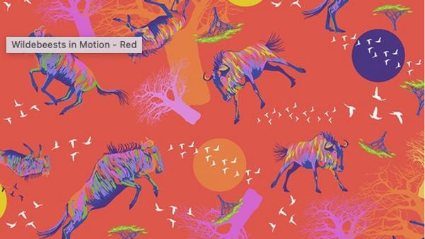 Wildebeests In Motion LORRAINE TURNER Migration