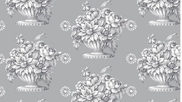 Kaffe Fassett - Backing Fabric - Stone/Royal